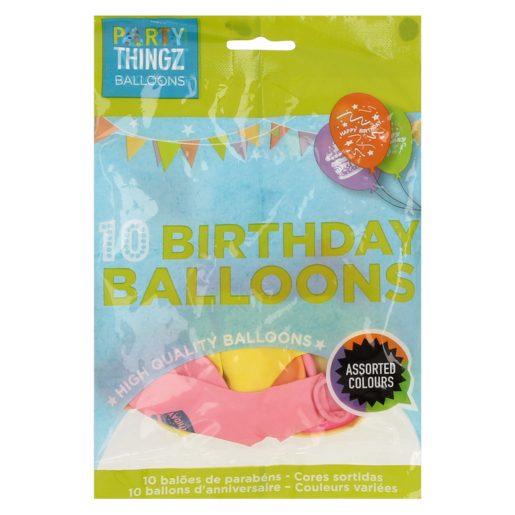 Party Thingz High Quality Round Printed Balloons 10 Pack