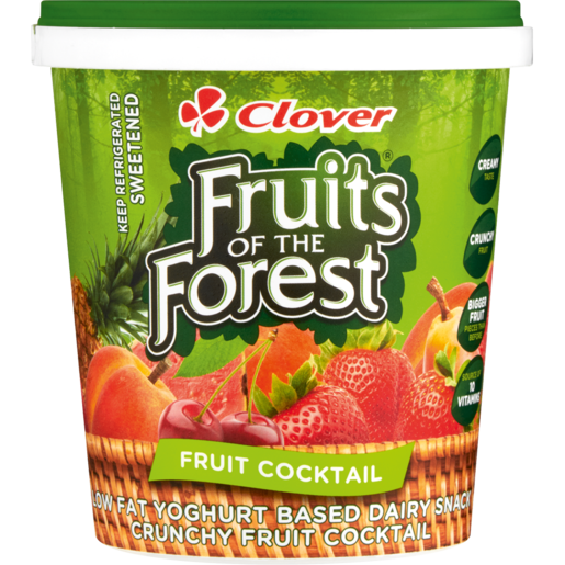 Clover Fruits Of The Forest Fruit Cocktail Low Fat Yoghurt Based Dairy Snack 1kg