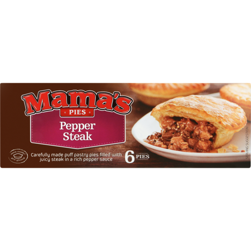 Mama's Pies Frozen Pepper Steak Pies 6 Pack   Frozen Pies ...