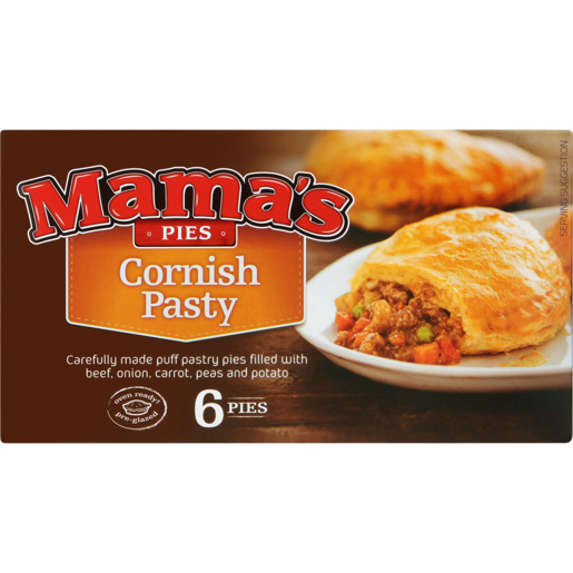 Mama's Pies Frozen Cornish Pasty Pies 6 Pack
