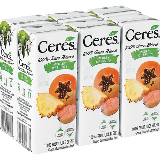 Ceres Medley Of Fruit Juice Pack 6 x 200ml