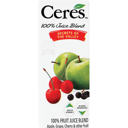 Ceres 100% Secrets Of The Valley Fruit Juice 200ml
