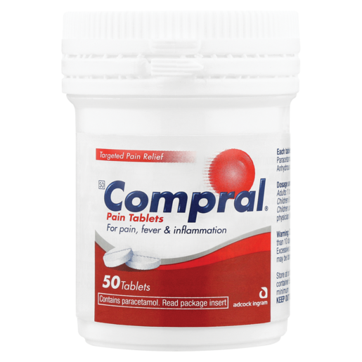 Compral Pain Tablets 50 Pack