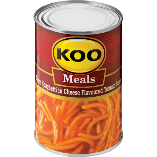 Koo Short Spaghetti In Cheese Flavoured Tomato Sauce 410g