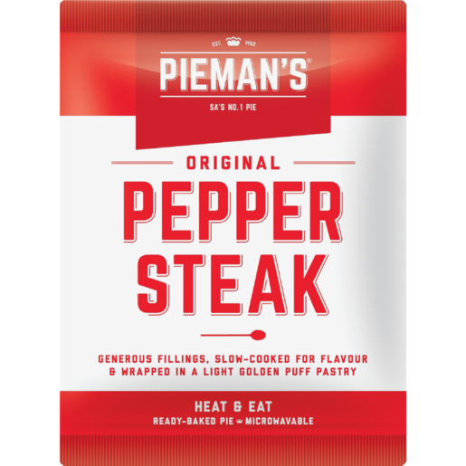 Pieman's Pepper Steak Pies