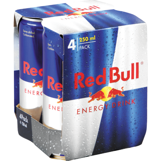 Red Bull Regular Energy Drink Cans 4 x 250ml