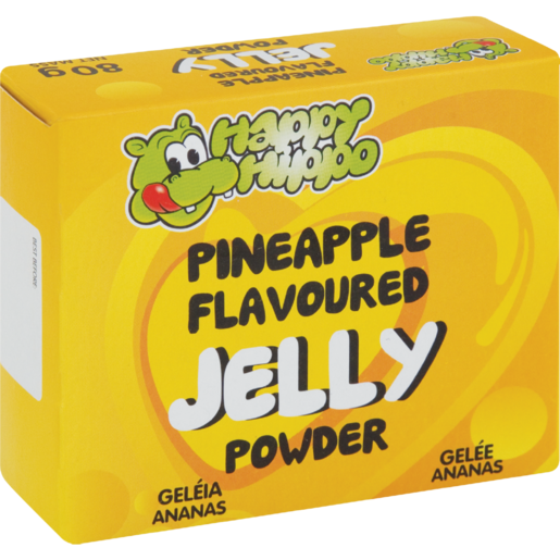 Happy Hippo Pineapple Flavoured Jelly Powder 80g