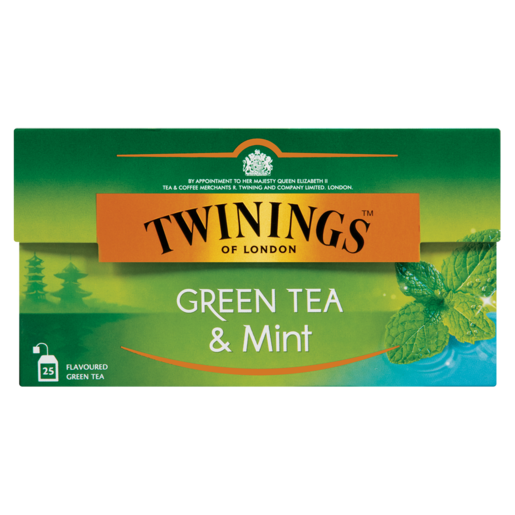 Twinings Green Tea & Mint Teabags 25 Pack
