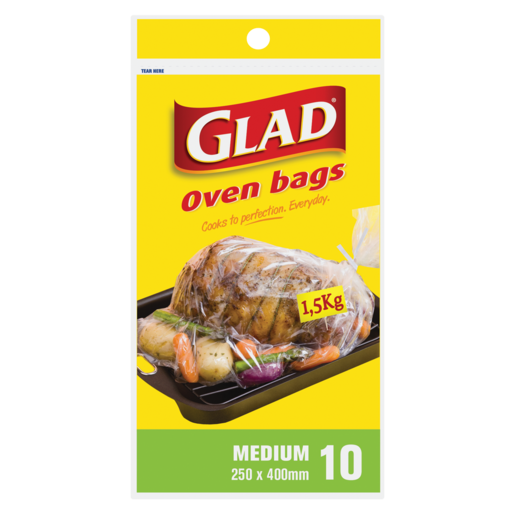 Glad Medium Oven Bags 10 Pack Enamel General Cookware Cookware Bakeware Kitchen Household Checkers Za