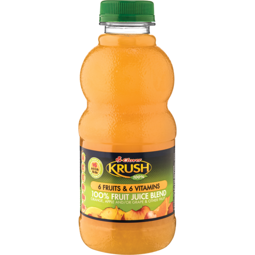 Clover Krush Lite 100% 6 Fruit & 6 Vitamins Juice 500ml