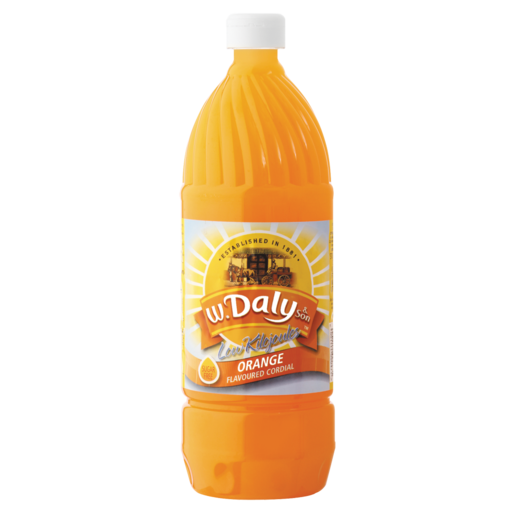 W.Daly Orange Flavoured Cordial 1L
