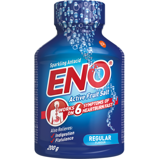 Eno Active Fruit Salt Regular Anti-Acid Effervescent Tablets 200g