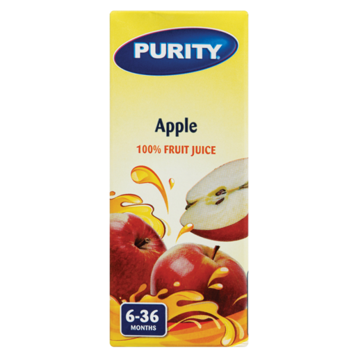 Purity Apple 100% Fruit Juice 6-36 Months 200ml