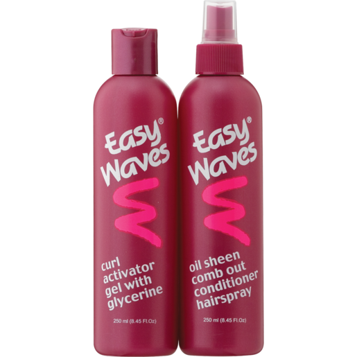 Easy Waves Style Gel & Comb Out Conditioner Hairspray Combo 2 x 250ml