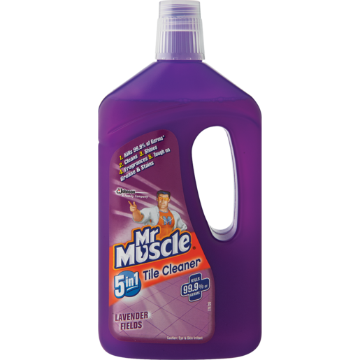 Mr. Muscle 5-In-1 Lavender Fields Tile Cleaner 750ml