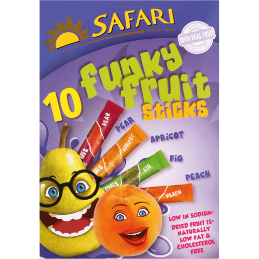 Safari Funky Fruit Sticks 10 x 25g