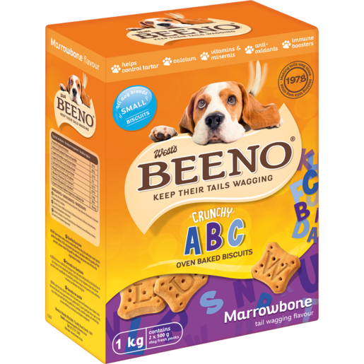 Beeno Small Marrowbone Flavoured Crunchy Dog Biscuits 1kg