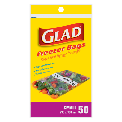Glad Small Freezer Bags 50 Pack
