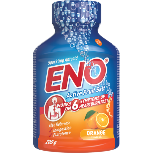 Eno Active Fruit Salt Orange Flavoured Anti-Acid Effervescent Tablets 200g