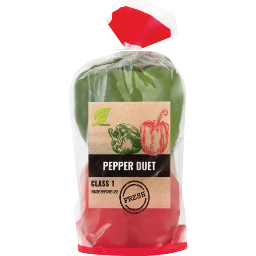 Duet Green & Red Peppers In Pack