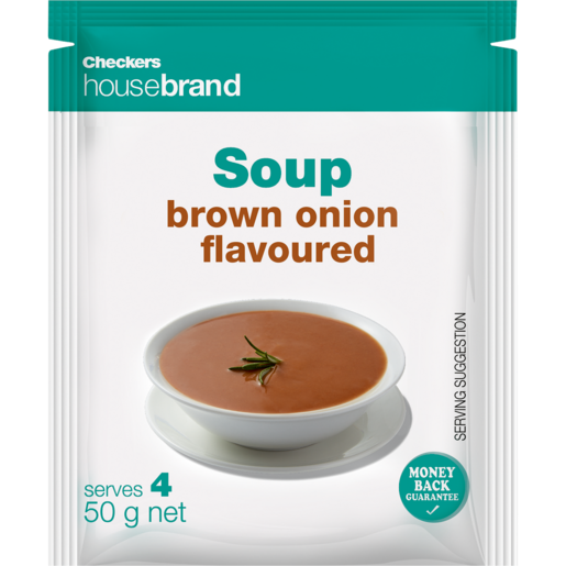 Checkers Housebrand Brown Onion Soup Packet 50g