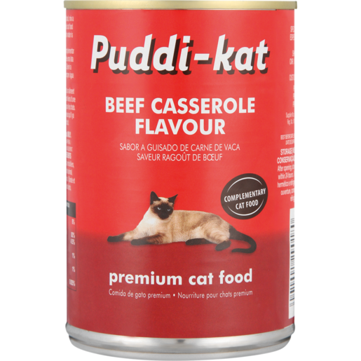 Puddi-Kat Beef Casserole Premium Cat Food Can 385g