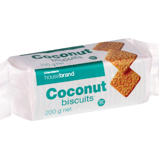 Checkers Housebrand Coconut Biscuits 200g