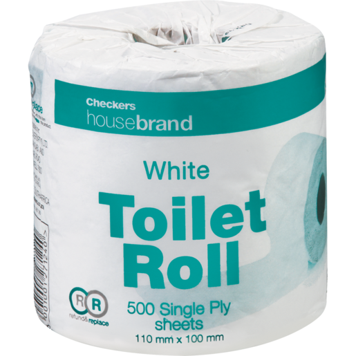 Checkers Housebrand White Single Ply Toilet Roll