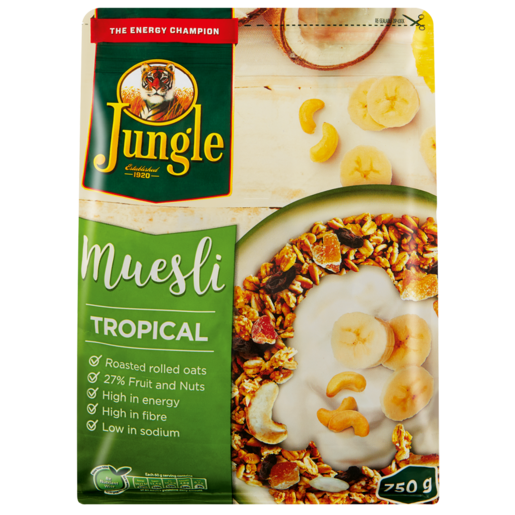Jungle Energy Crunch Tropical Fruit Muesli Cereal 750g