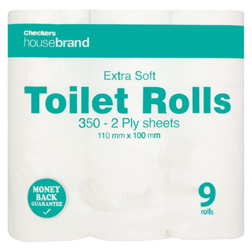Checkers Housebrand 2 Ply Toilet Paper 9 Pack