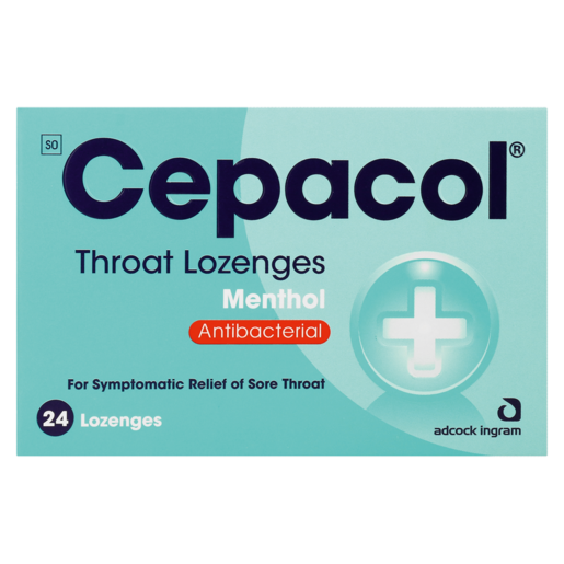 Cepacol Menthol Throat Lozenges 24 Pack