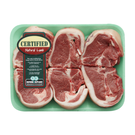 Certified Natural Lamb Loin Chops Per kg