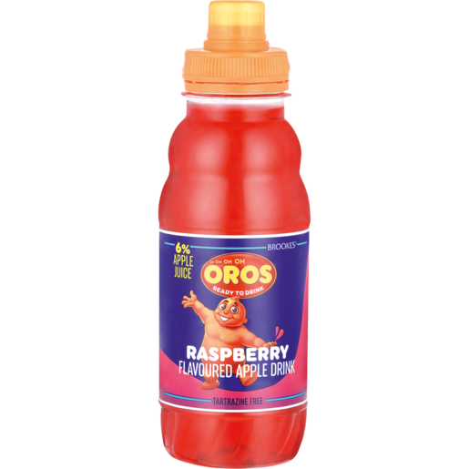 Brookes Oros Ready To Drink Raspberry Flavoured Drink Bottle 300ml