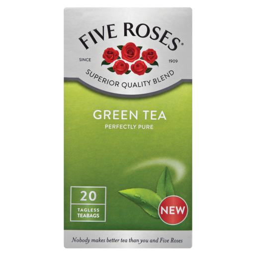 Five Roses Green Teabags 20 Pack