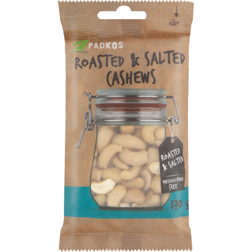 Padkos Roasted & Salted Cashew Nuts 170g
