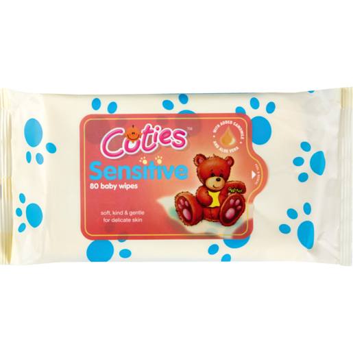 Cuties Unscented Baby Wipes 80 Pack