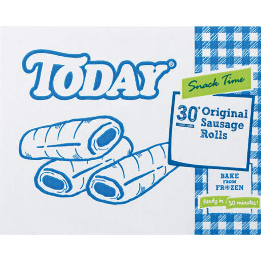 Today Frozen Beef Sausage Rolls 30 Pack