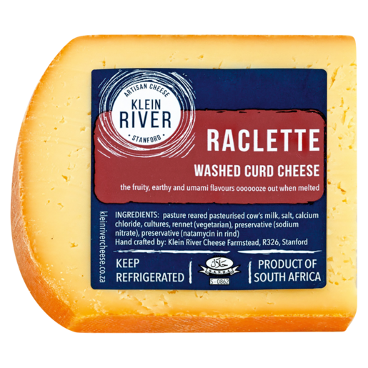 Klein River Raclette Washed Curd Cheese Per kg