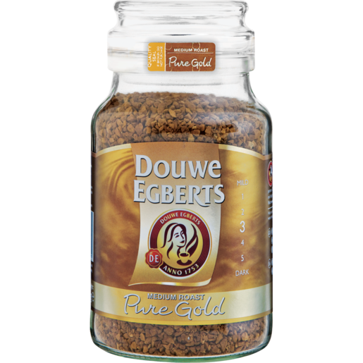 Douwe Egberts Pure Gold Medium Roast Instant Coffee 200g Instant Coffee Coffee Drinks Checkers Za