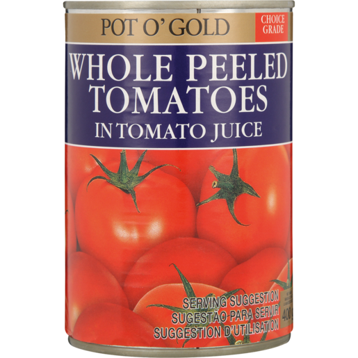 Pot O' Gold Whole Peeled Tomato In Juice 400g