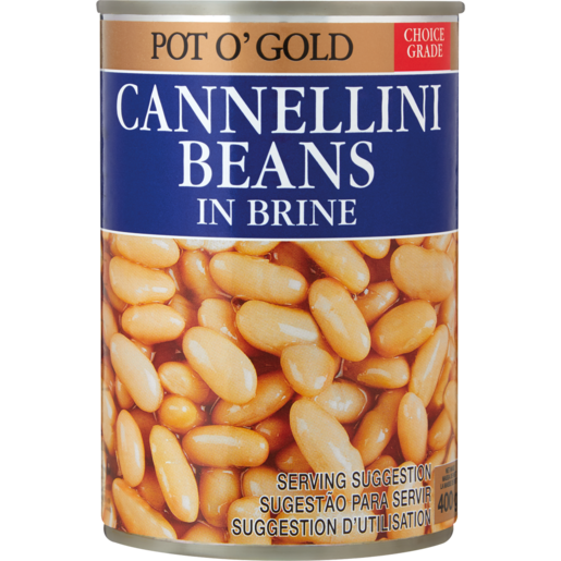Pot O' Gold Canellini Beans In Brine 400g