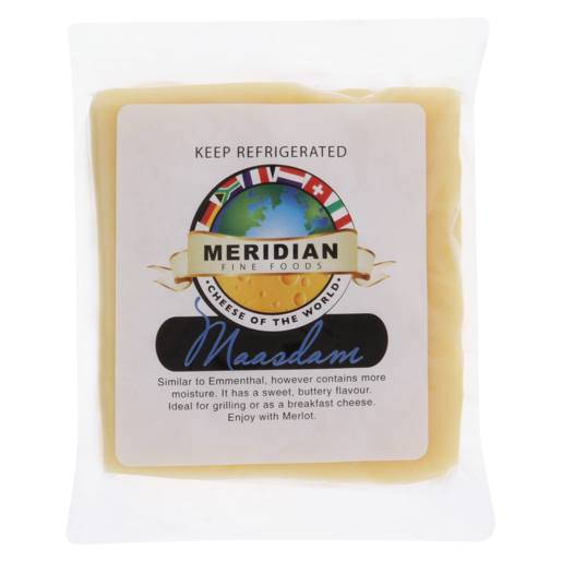Meridian Maasdam Semi Hard Cheese Per Kg