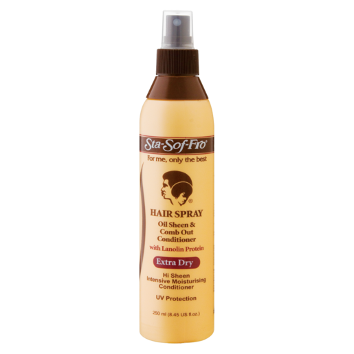 Sta-Sof-Fro Oil & Sheen Comb Out Conditioner Hair Spray 250ml