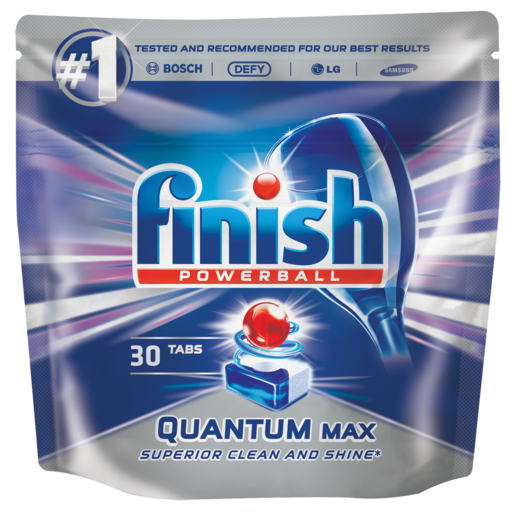 Finish Quantum Max Dishwasher Tablets 30 Pack