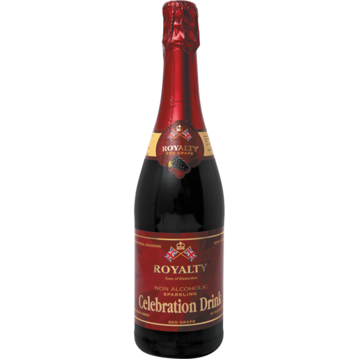 Royalty Sparkling Red Grape Juice Bottle 750ml