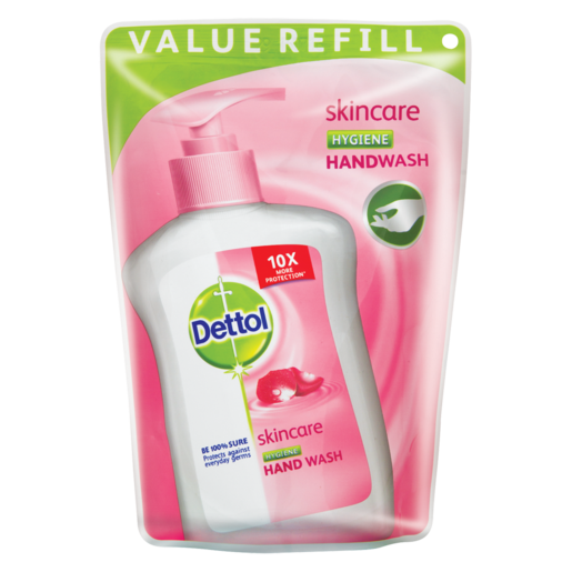 Dettol Skincare Hygiene Hand Wash Refill Pouch 200ml