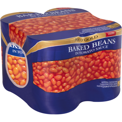 Pot O' Gold Baked Beans In Tomato Sauce Cans 4 x 410g