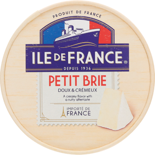 Ile De France Petit Brie Cheese Box 125g