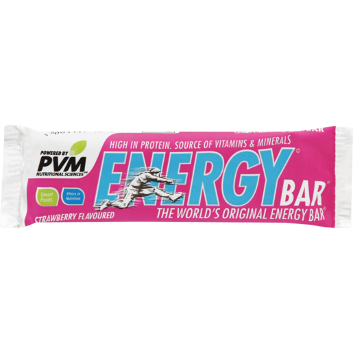 PVM Strawberry Energy Bar 45g
