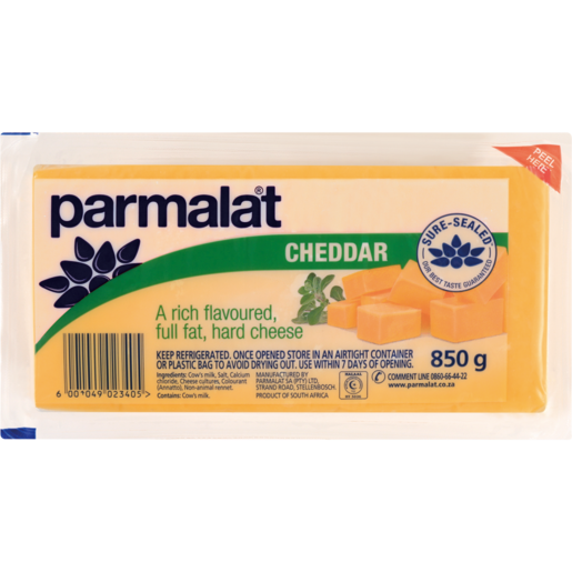 Parmalat Cheddar Cheese Pack 850g